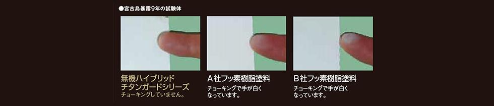 無機ハイブリッドチタンガードの塗膜