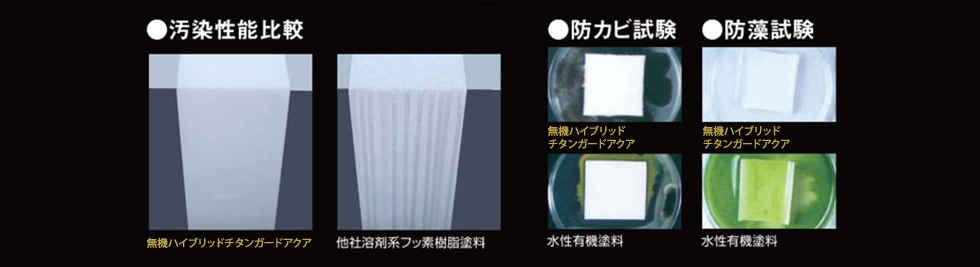 防カビや雨筋汚れを防ぐ無機塗料