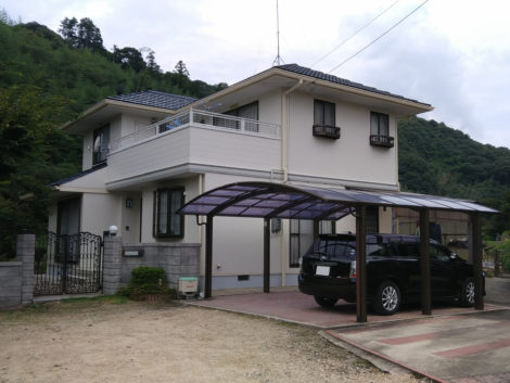 山口県山陽小野田市大字郡Y様邸 外壁屋根塗装工事
